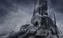 Башня за лесом