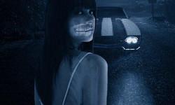Девушка на ночной дороге
